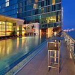 Rooftop pool at Hotel Beaux Arts