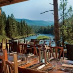 Luxury Glamping dining tent at Paws Up