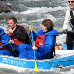 White Water rafting at Paws Up