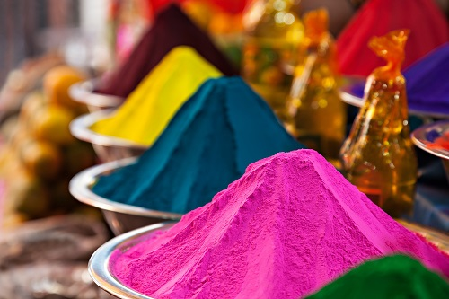 Color powder on the indian market India
