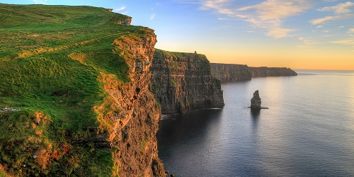 Ireland - Cliffs of Moher at Sunset 500 x 250