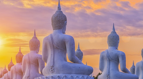 Many Buddha Statue