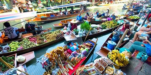 Thailand - Floating Market 500 x 250